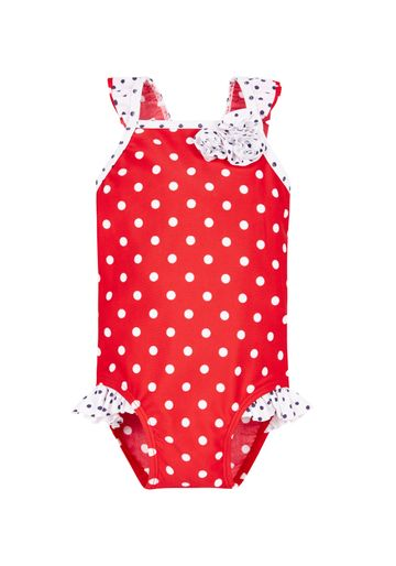 Mothercare | Red Girls Red Spotty Frill Swimsuit