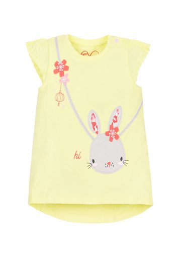 Mothercare | Girls Bunny Bag T-Shirt  - Yellow