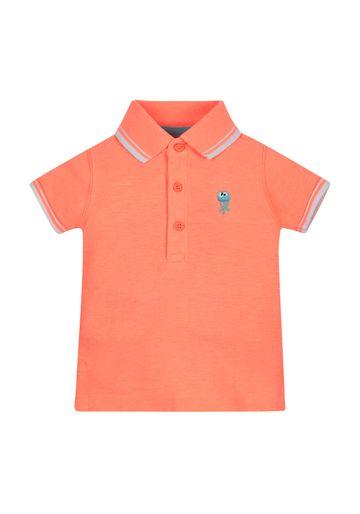 Mothercare | Boys Half Sleeves Jellyfish Polo T-Shirt - Orange