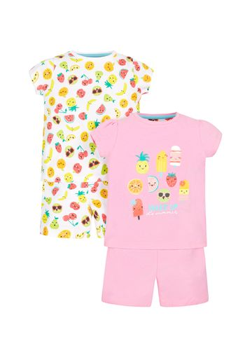 Mothercare | Girls Fruit Pyjamas - Pack Of 2 - Multicolor