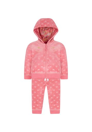 Mothercare | Pink Heart Velour Jog Set
