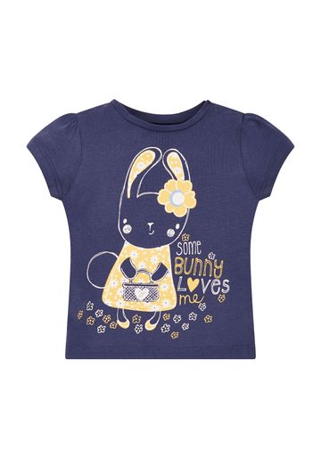 Mothercare | Navy Bunny Love Short Sleeve T-Shirt