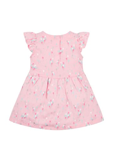 Mothercare | Girls Pink Balloon Jersey Dress - Pink