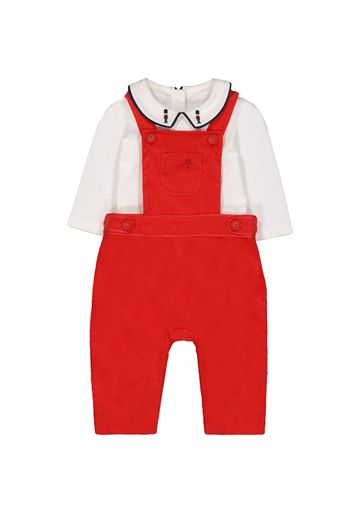 Mothercare | Boys Cord Dungarees And Bodysuit Set - Red