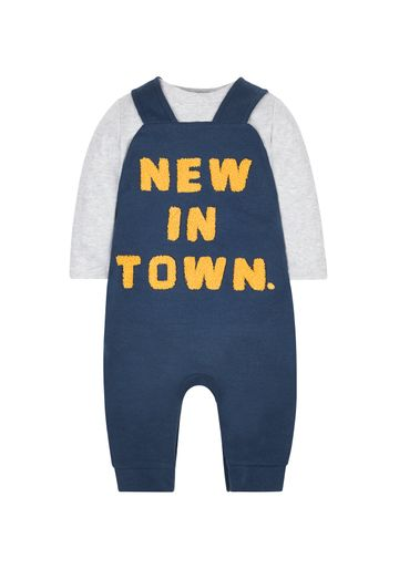 Mothercare | New In Town Bodysuit And Dungaree Set