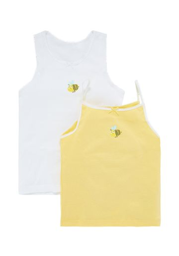 Mothercare | Girls Bee Vests - 2 Pack - Yellow