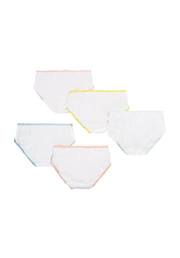 Mothercare | Girls White Color - Trim Briefs - 5 Pack - White