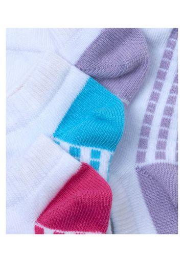 Mothercare   Girls White Sporty Trainer Socks - 3 Pack - Multicolor