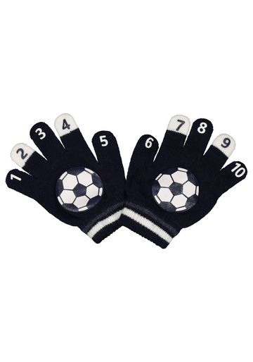 Mothercare | Boys Football Magic Count Gloves - Navy