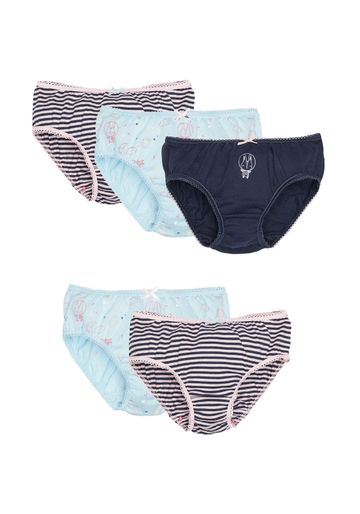 Mothercare | Girls Space Bunny Briefs - 5 Pack - Navy