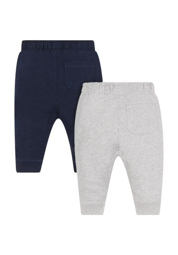 Mothercare | Boys Grey Marl And Navy Joggers - 2 Pack - Grey And Blue