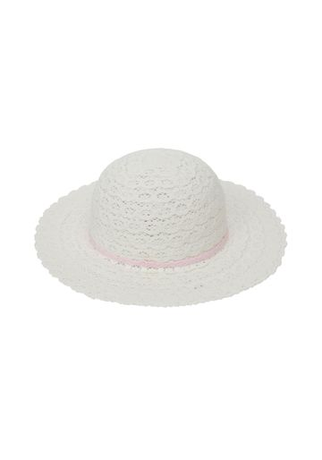 Mothercare   Girls White Wide Brim Floppy Hat - White