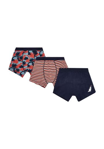 Mothercare | Boys Dino Trunks - 3 Pack - Navy