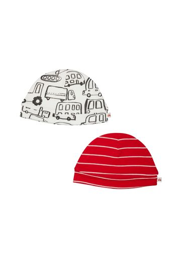 Mothercare | Boys Stripe And Vehicle Hats – 2 Pack - Red