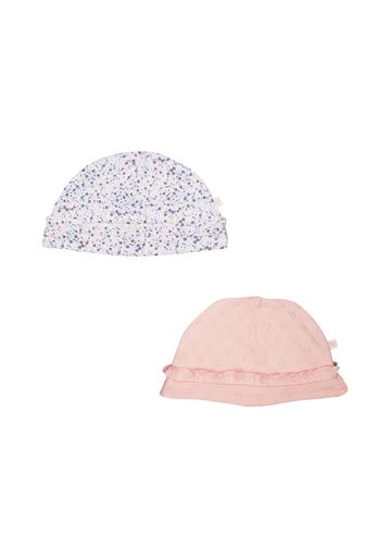 Mothercare | Girls Pink And Floral Hats - 2 Pack - Pink