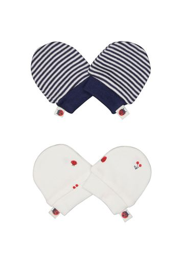 Mothercare | Girls Ladybird Scratch Mitts - 2 Pack - Red