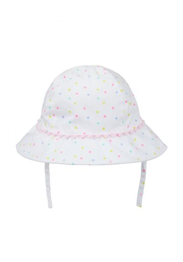 Mothercare | Girls White Neon Spot Sun Hat - Multicolor
