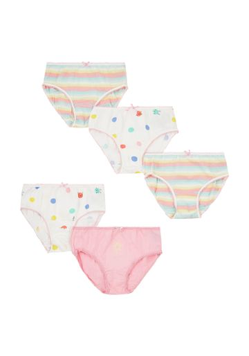 Mothercare | Girls Flower And Spot Briefs - 5 Pack - Multicolor