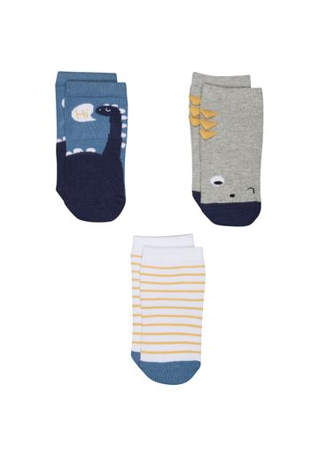 Mothercare | Boys Dinosaur Socks - 3 Pack - Multicolor