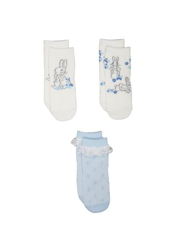 Mothercare | Girls Peter Rabbit Socks - 3 Pack - Pink