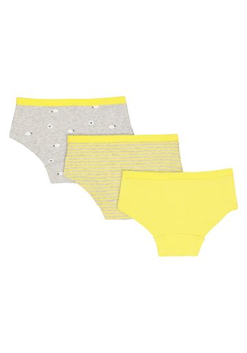 Mothercare | Girls Yellow Sheep Hipsters - 3 Pack - Yellow