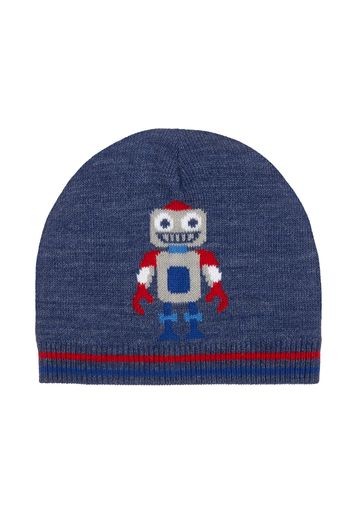 Mothercare | Boys Blue Robot Magic Beanie Hat - Blue