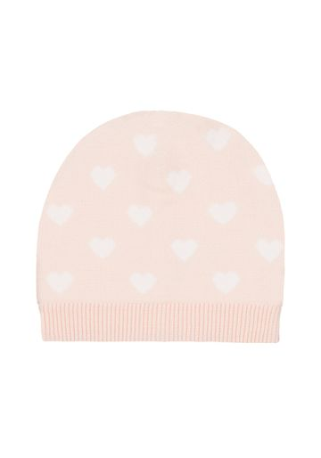 Mothercare | Girls Pink Hearts Magic Beanie Hat - Pink