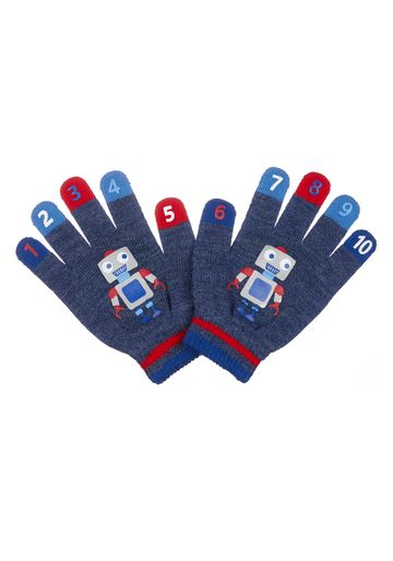 Mothercare | Boys Blue Robot Counting Gloves - Blue
