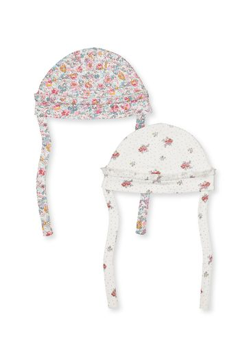 Mothercare | Girls Floral Hats With Ties - 2 Pack - Pink