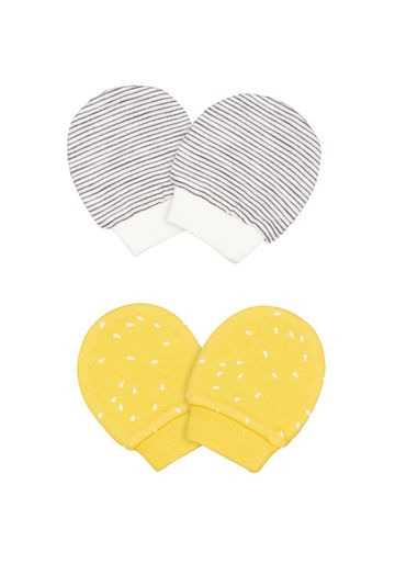 Mothercare | Girls Printed And Striped Mitts - 2 Pack - Multicolor