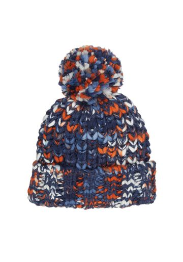 Mothercare | Boys Multicolored Chunky Knit Beanie Hat - Navy