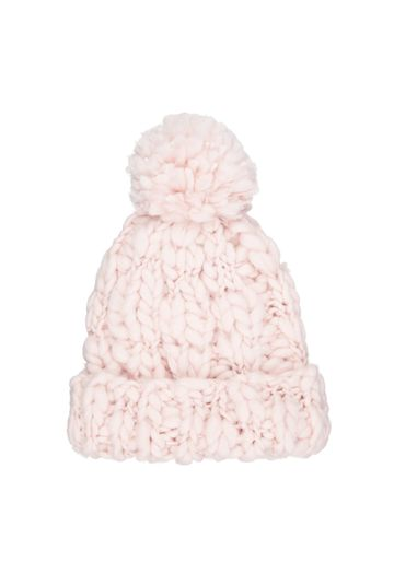 Mothercare | Girls Pink Chunky - Knit Beanie Hat - Pink