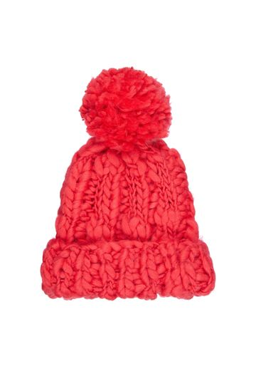Mothercare | Girls Red Chunky - Knit Beanie Hat - Red