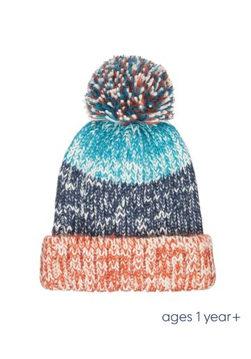 Mothercare | Boys Striped Knitted Beanie Hat - Multicolor