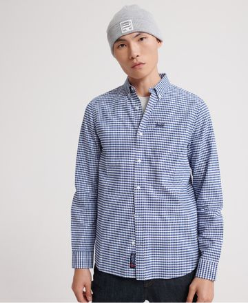 Superdry | Superdry Blue Gingham Casual Shirt