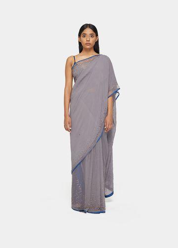 SATYA PAUL | Satya Paul Mahnorr(Moonlight) Sari