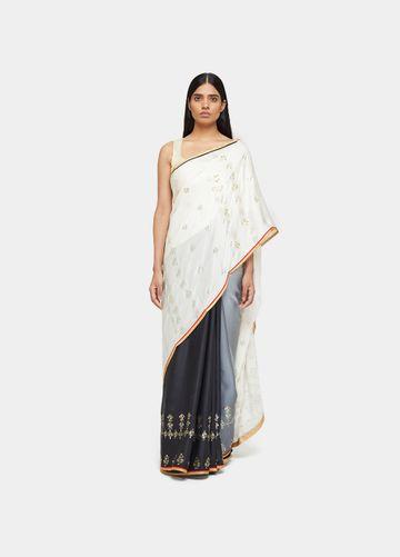 SATYA PAUL | Satya Paul Geometric Deck Sari