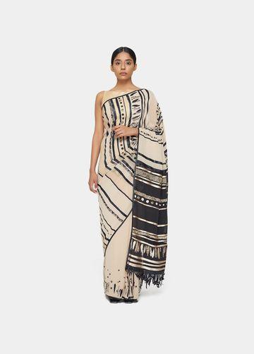 SATYA PAUL | Satya Paul Linear Dance Sari
