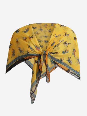 SATYA PAUL | Satya Paul Yellow Mustard Silk Scarf