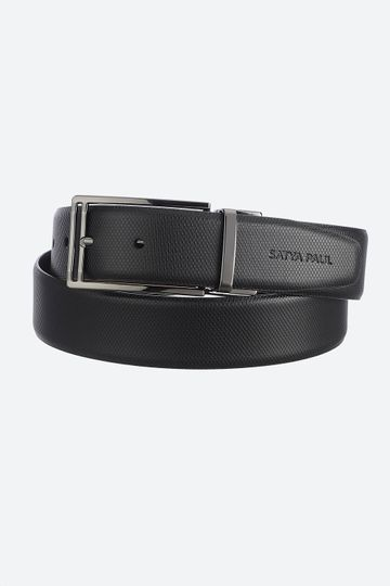 SATYA PAUL | Satya Paul Reversible Black and Tan Leather Belt