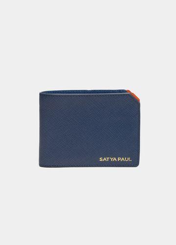 SATYA PAUL   Blue Leather Wallet