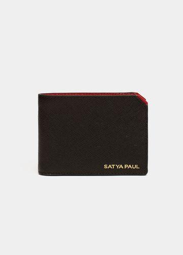 SATYA PAUL   Black Leather Wallet