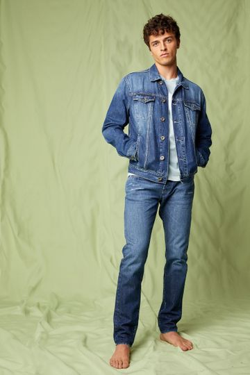 GAS   Men's Norton Carrot Anti Fit Blue Jeans