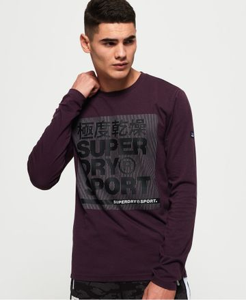Superdry   CORE GRAPHIC Long Sleeves TEE