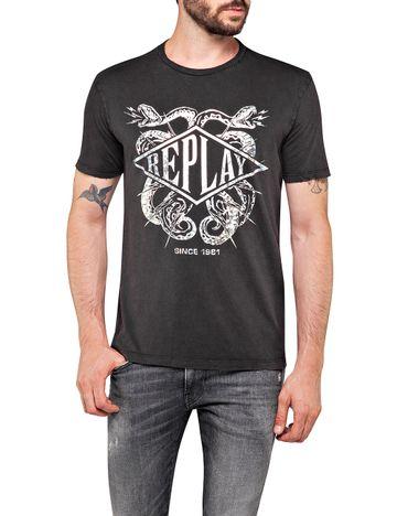 REPLAY | Blackboard garment dyed cotton jersey T Shirt