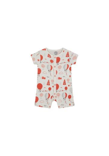 Mothercare | Unisex Half Sleeves Romper Hot Air Balloon Print - White
