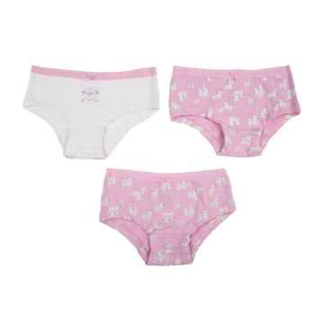 Mothercare | Girls Printed Briefs - Pack of 3 - Pink white