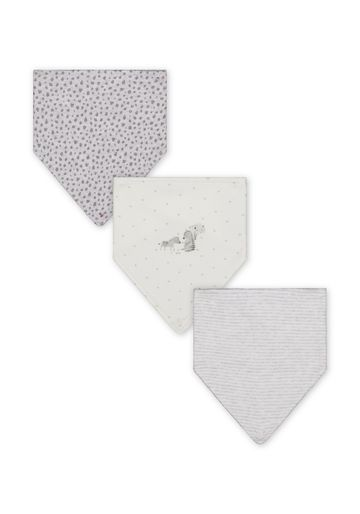 Mothercare | Unisex Printed Bibs - Pack of 3 - Grey