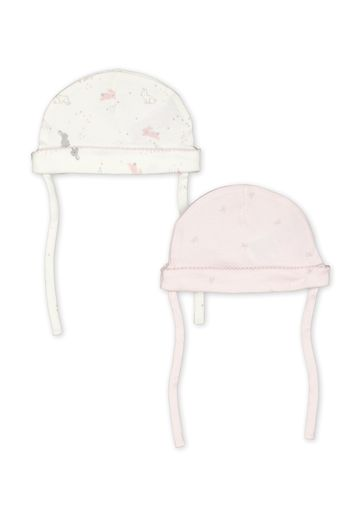 Mothercare | Girls Printed Hat - Pack Of 2 - Pink White
