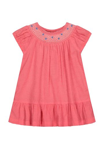 Mothercare | Girls Half Sleeves Embroidered Dress - Pink